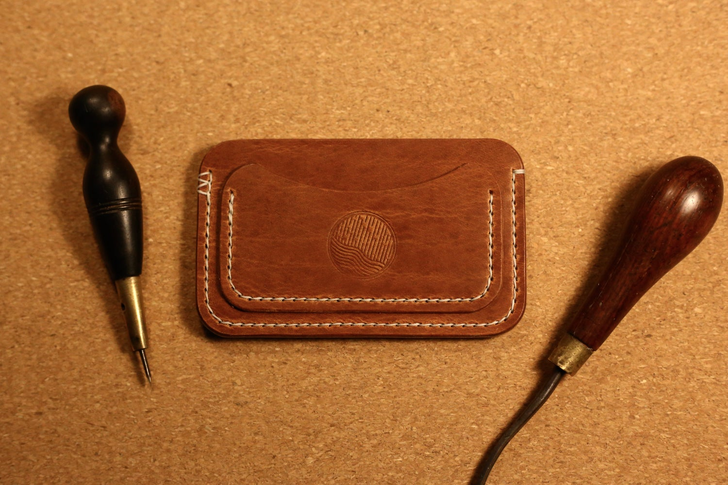 Image of Victor - Three Pocket Flat Wallet in Horween Dublin