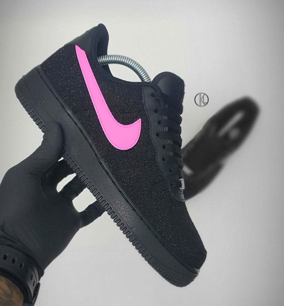Image of Nike Air Force 1 Night Sky (Glitter) Colour Swoosh