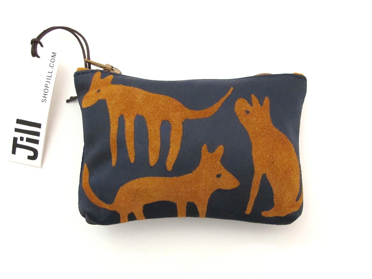 Image of Suede Brown & Navy Dogs Purses