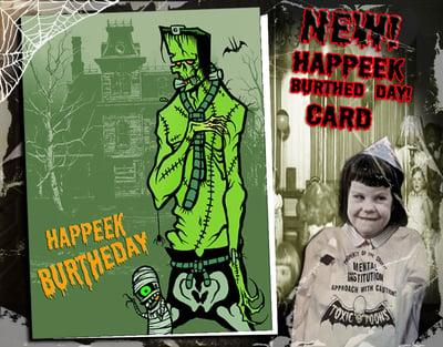 Image of HAPPY BURTHEDAY FRANK N MUMMYBOY - GREETING CARD