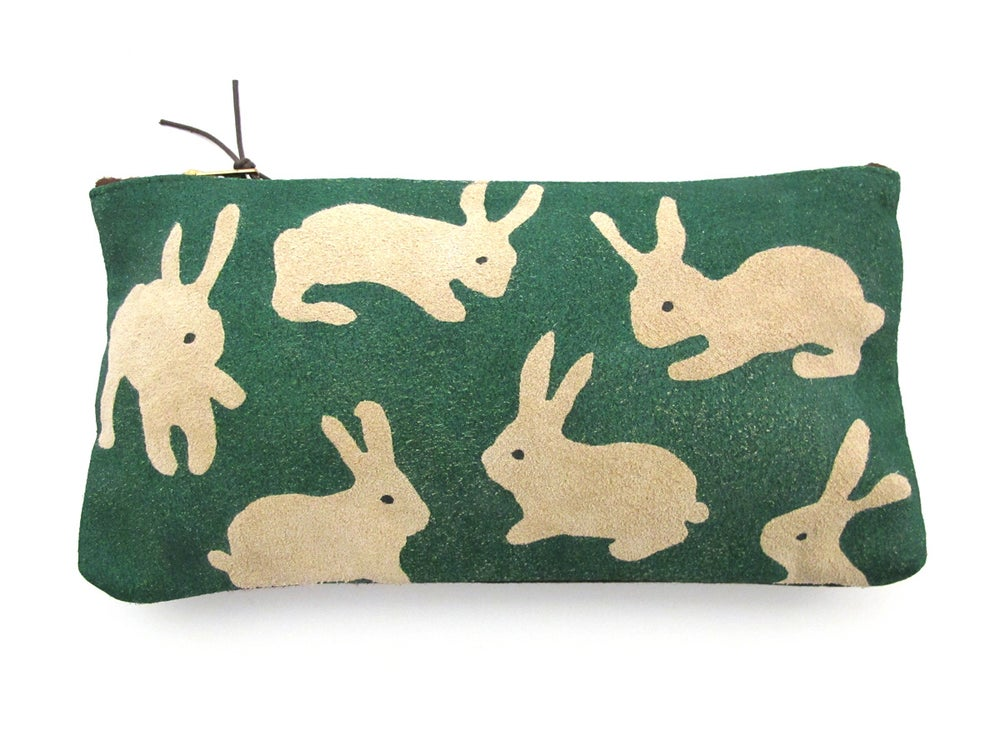 Image of Suede Green Rabbits Purses