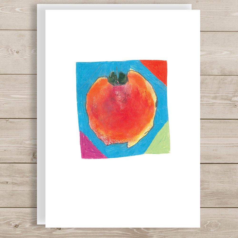 Image of Peach note card
