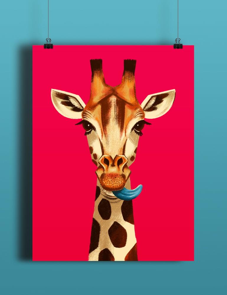 Image of Giraffe Lick - Poster