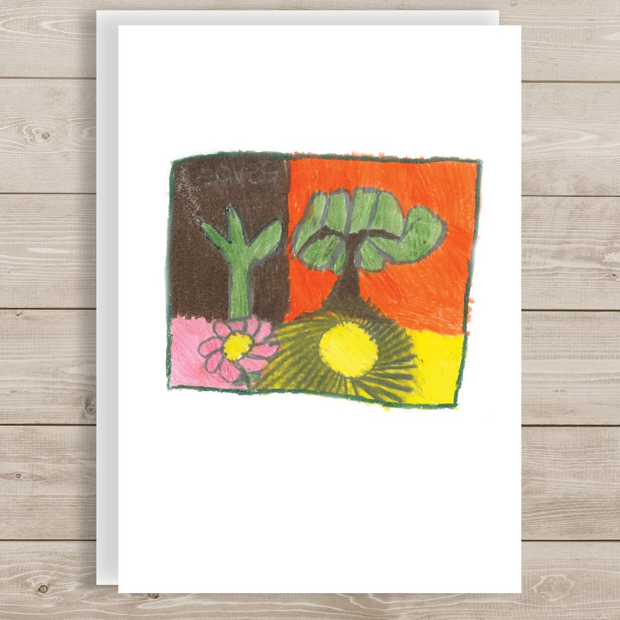 Image of Tree Leaves note card