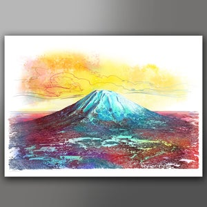 Image of Mt Yotei digital print