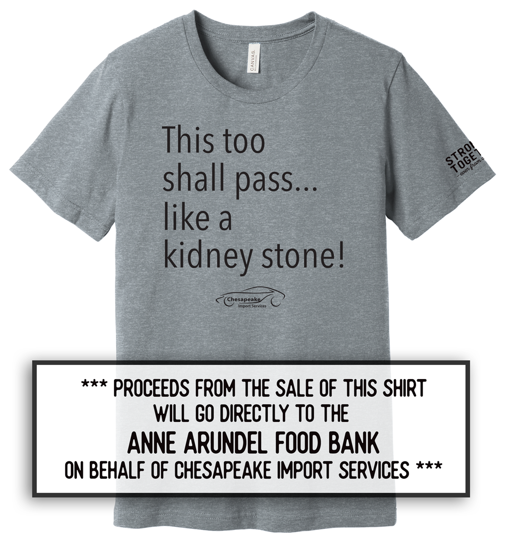 """Chesapeake Import Services """"Stronger Together"""" Tee"""