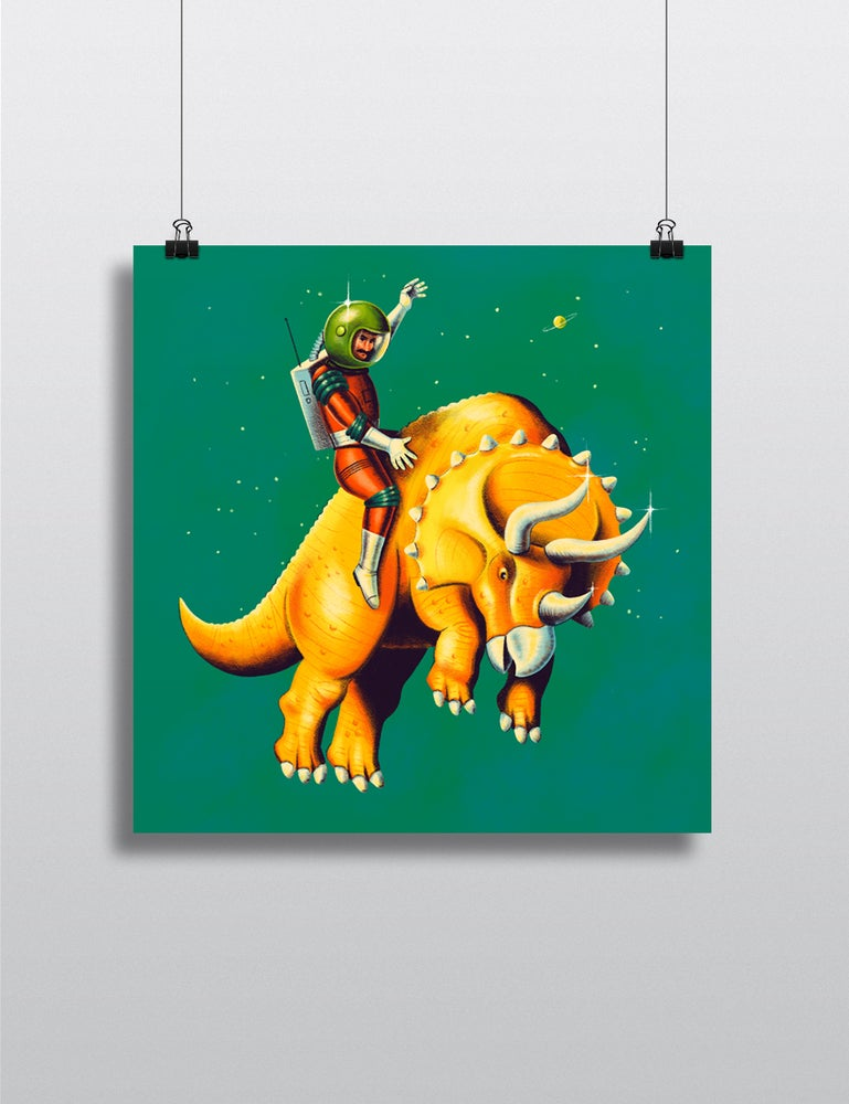 Image of Bucking Triceratops