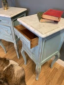 Image 5 of Marble top vintage French bedside tables