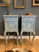 Image 3 of Marble top vintage French bedside tables