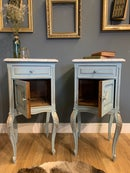 Image 4 of Marble top vintage French bedside tables