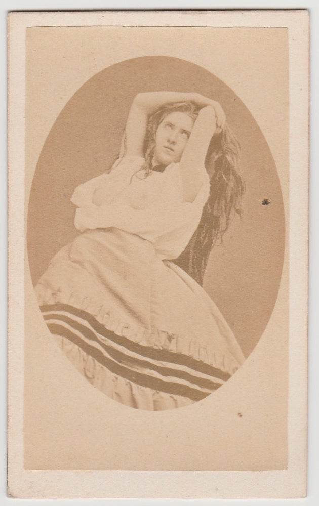 Image of CdV: a semi-nude woman in ecstasy, Cocodette ca. 1865