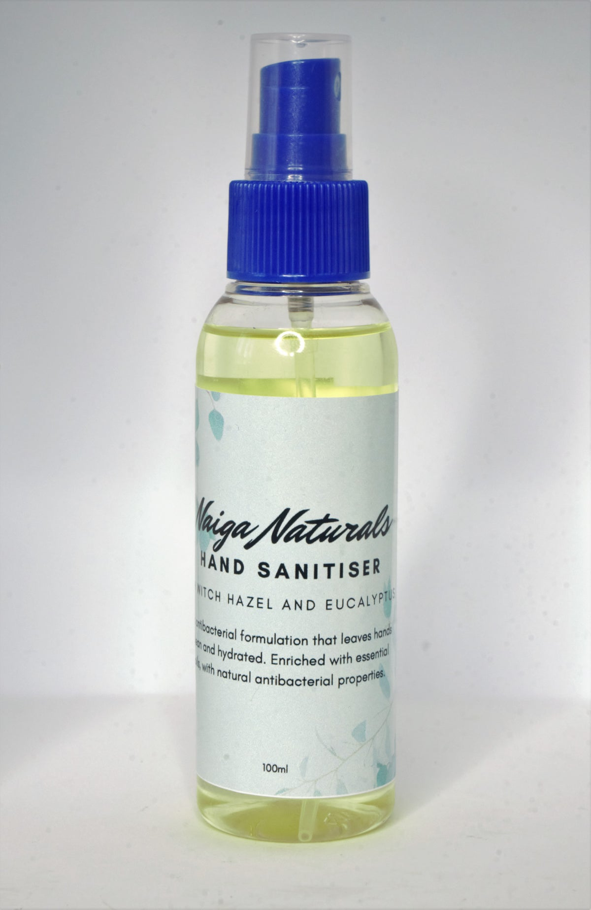 Image of Hand Sanitiser with 70%+ Isopropyl Alcohol, Witch Hazel and Eucalyptus