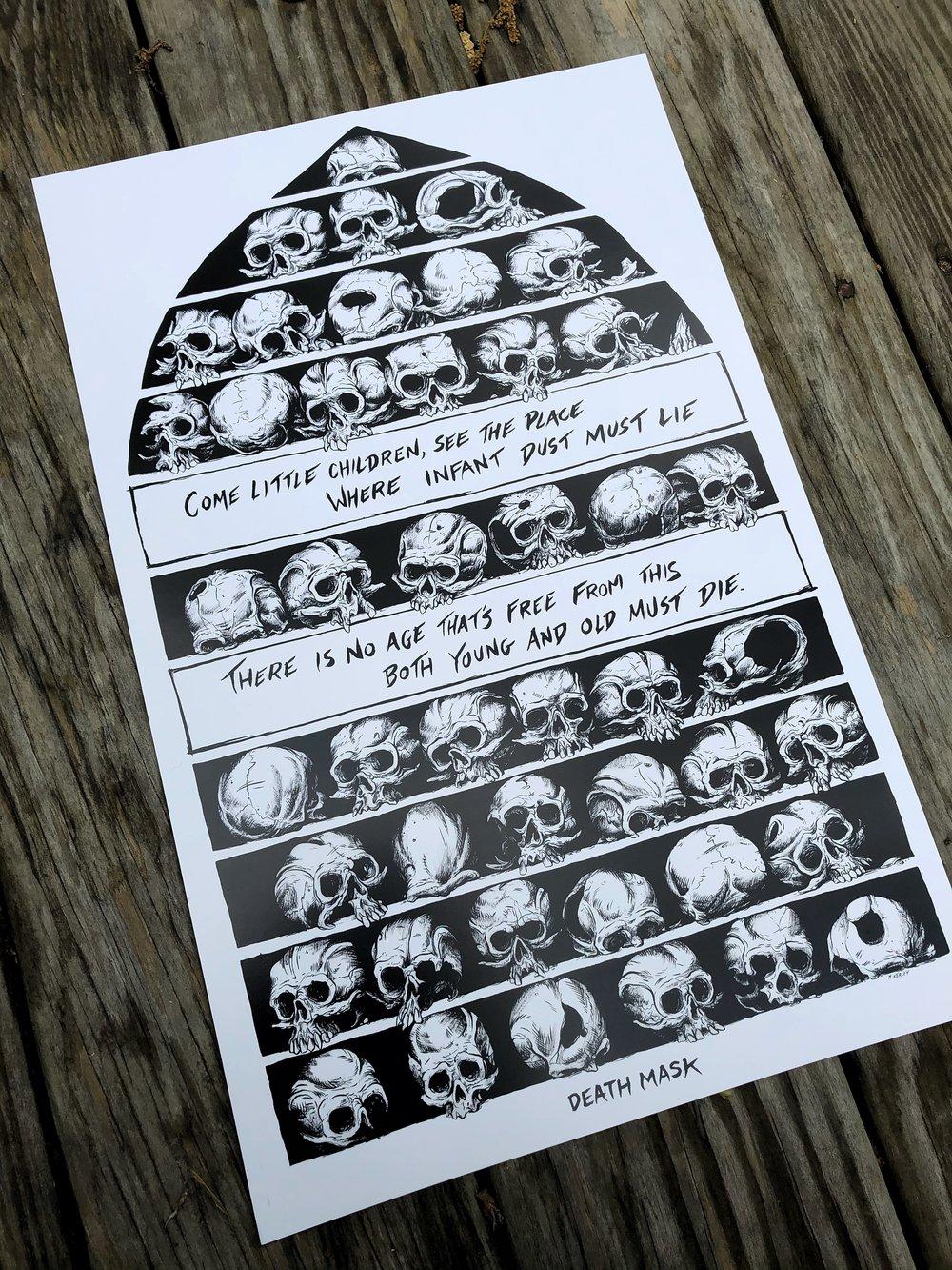 "Image of ""45 Skulls"" print"
