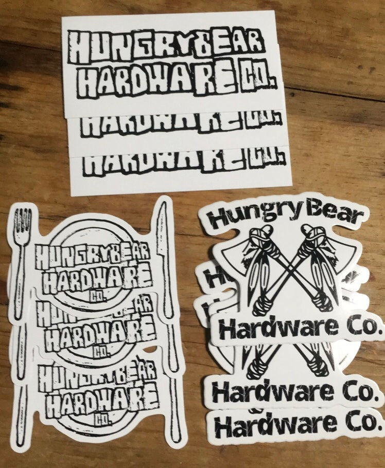 "Image of Hungry Bear 3"" sticker pack"