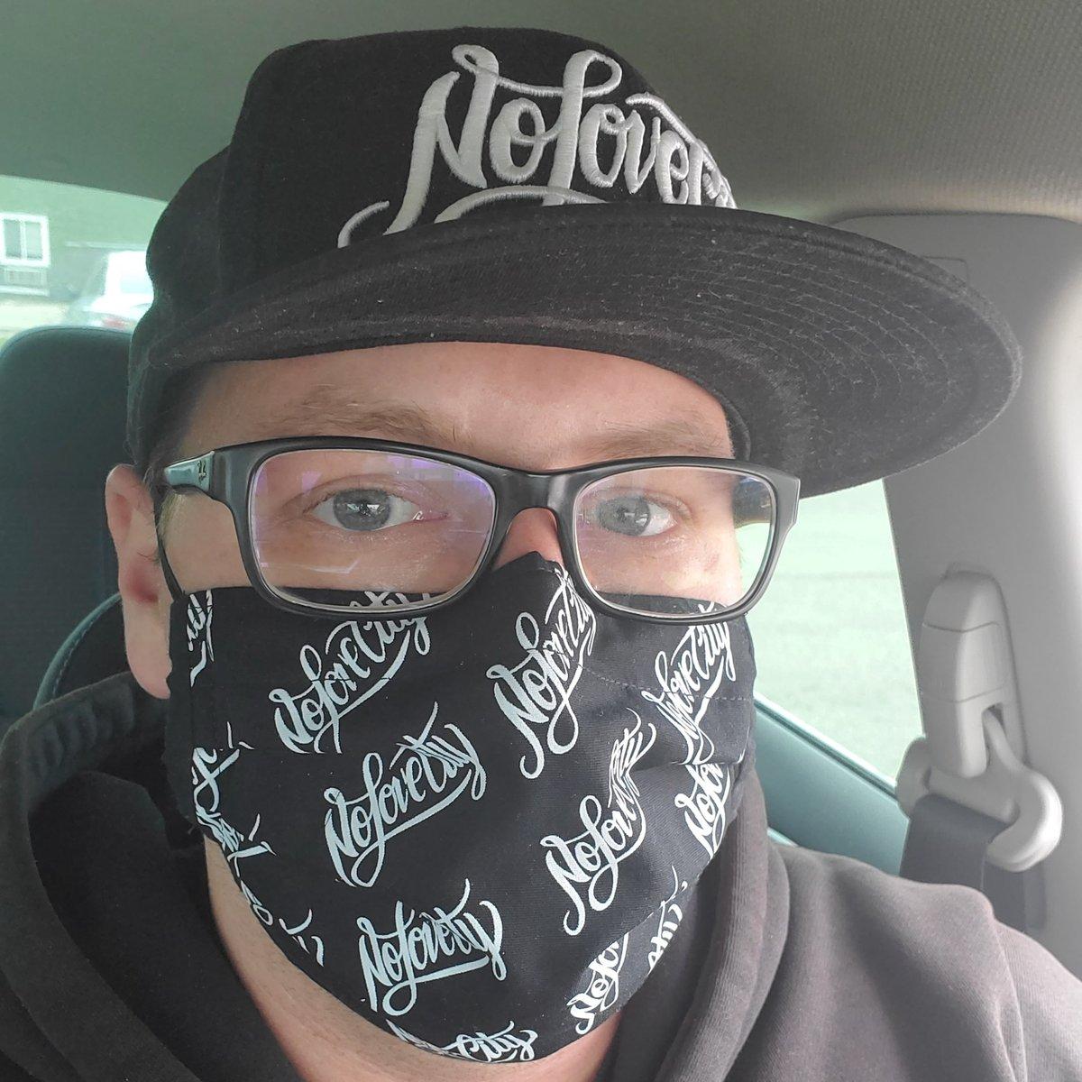 Image of Script Logo Face Mask (Black/White)