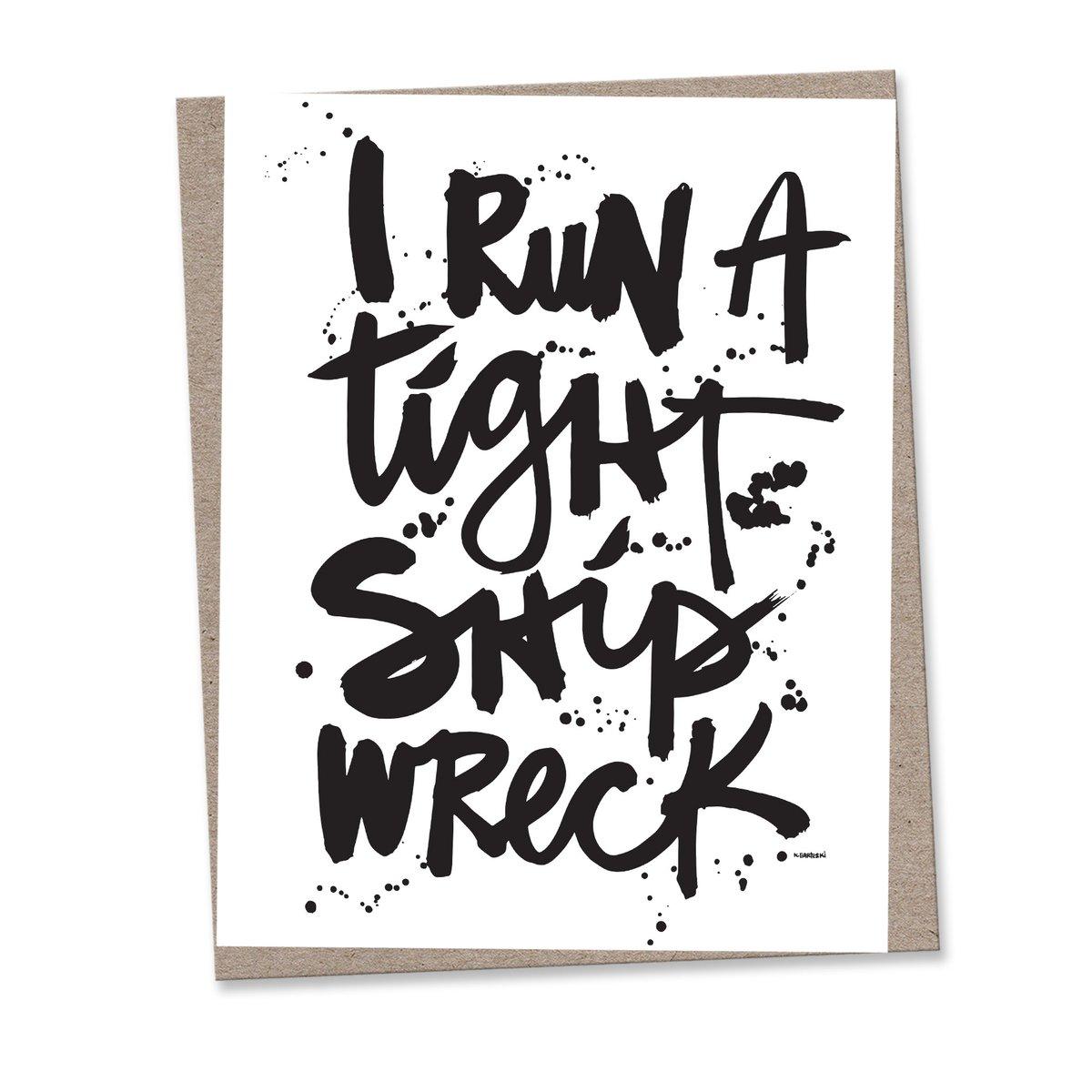 Image of SHIP WRECK #kbscript print