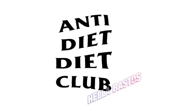 Image of Anti Diet Bargain Decal