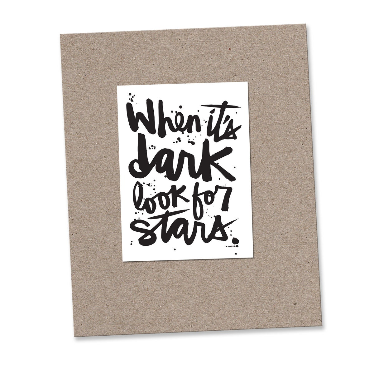 Image of LOOK FOR STARS mini print