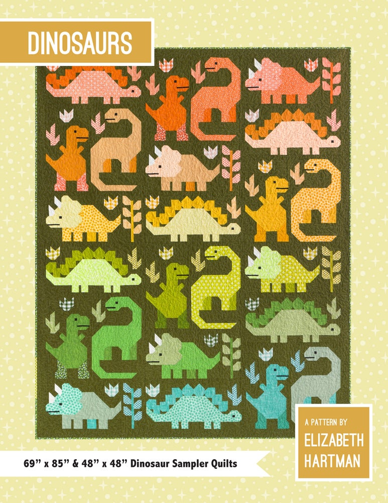 Image of DINOSAURS pdf quilt pattern