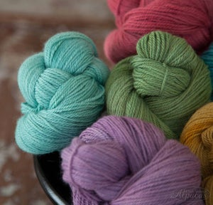 Alpaca Yarn - Hand Dyed with Eco-Friendly Dyes - Great Knitting Crochet Yarn - DK Weight