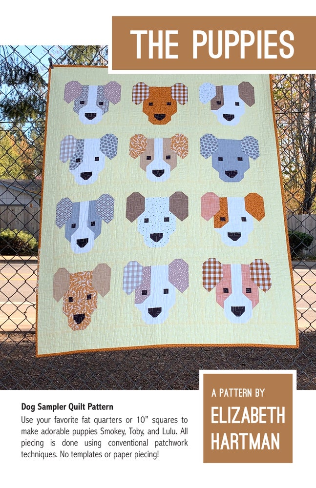 Image of THE PUPPIES pdf quilt pattern