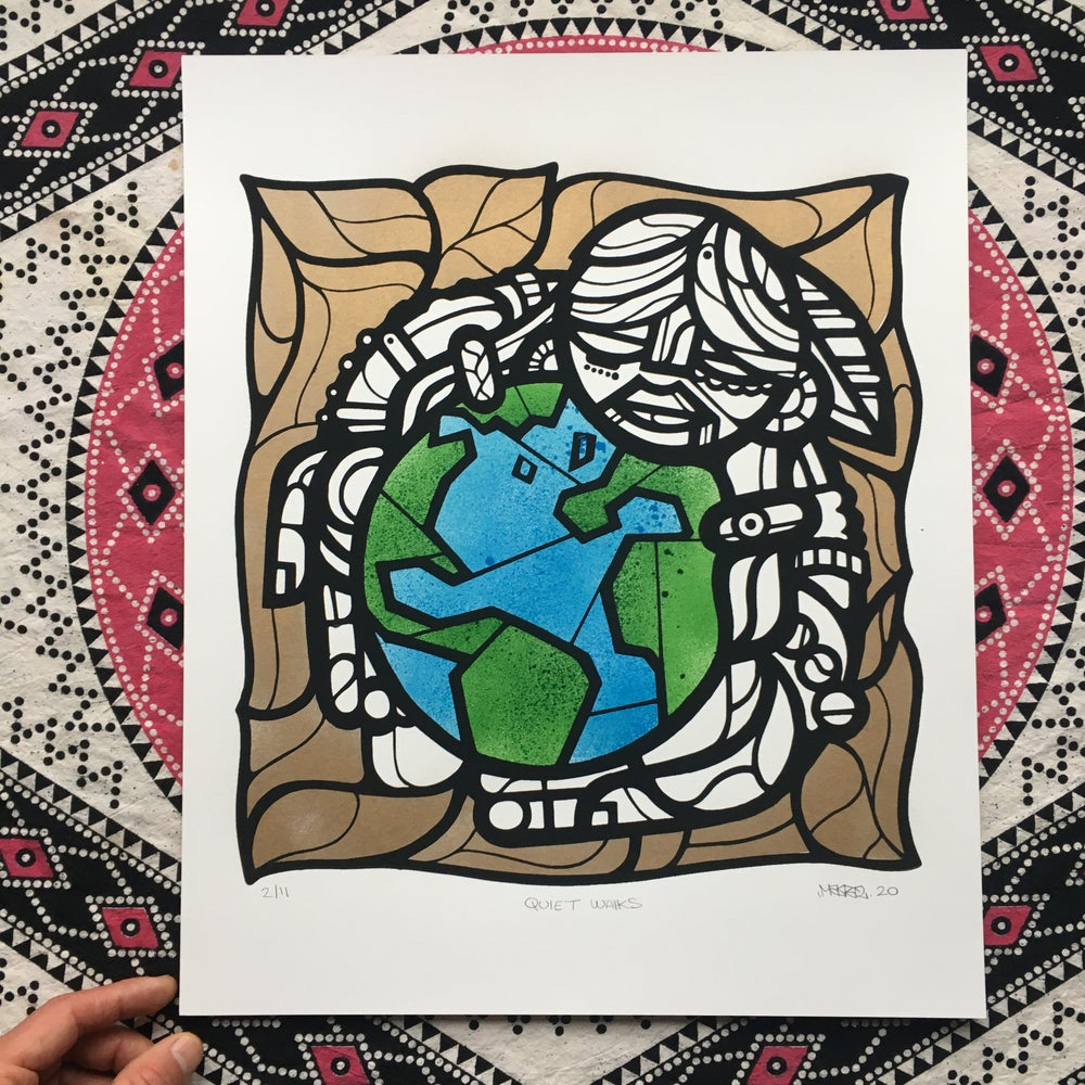 Image of Quiet Walks Earth Day Print Release