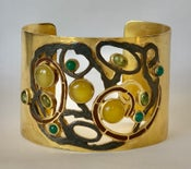 Image of contemporary yellow & green gems