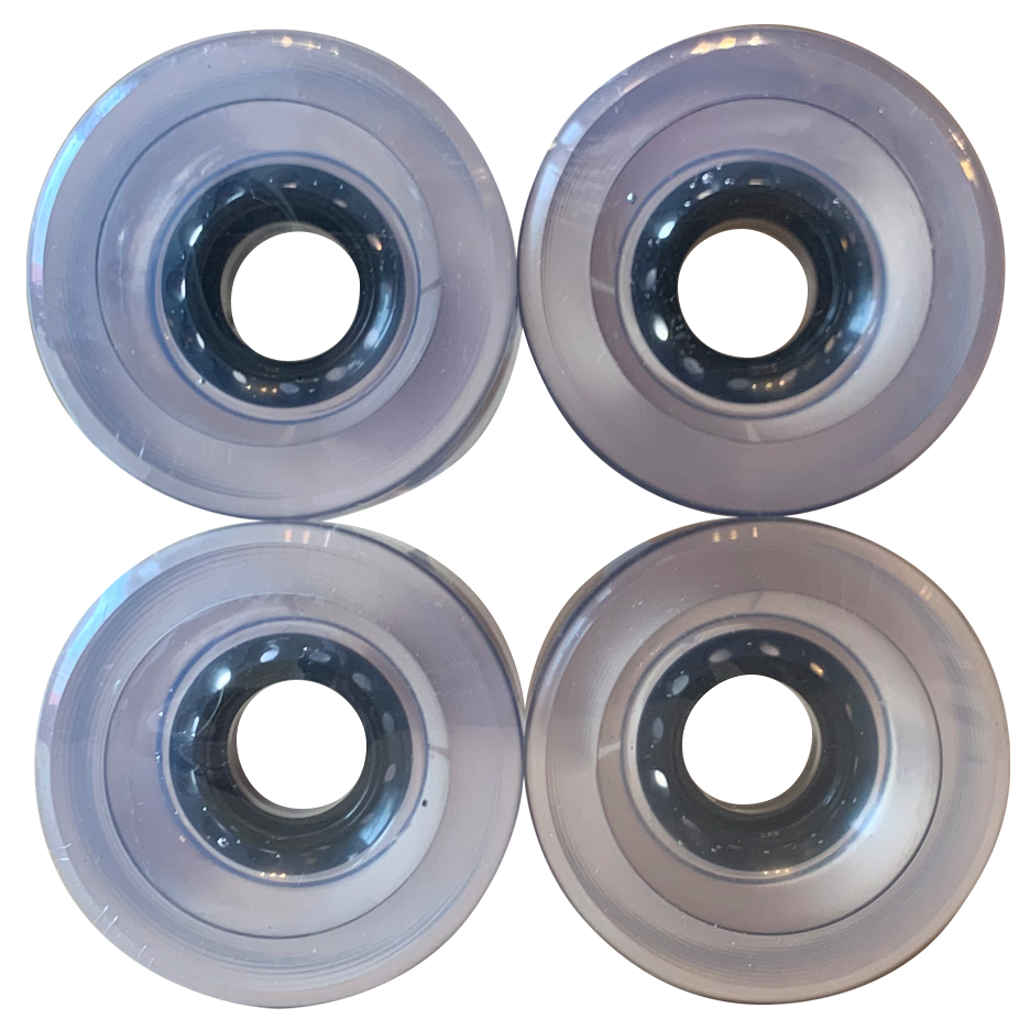 Image of Clear Gel Cruiser Wheels - 62mm 83A