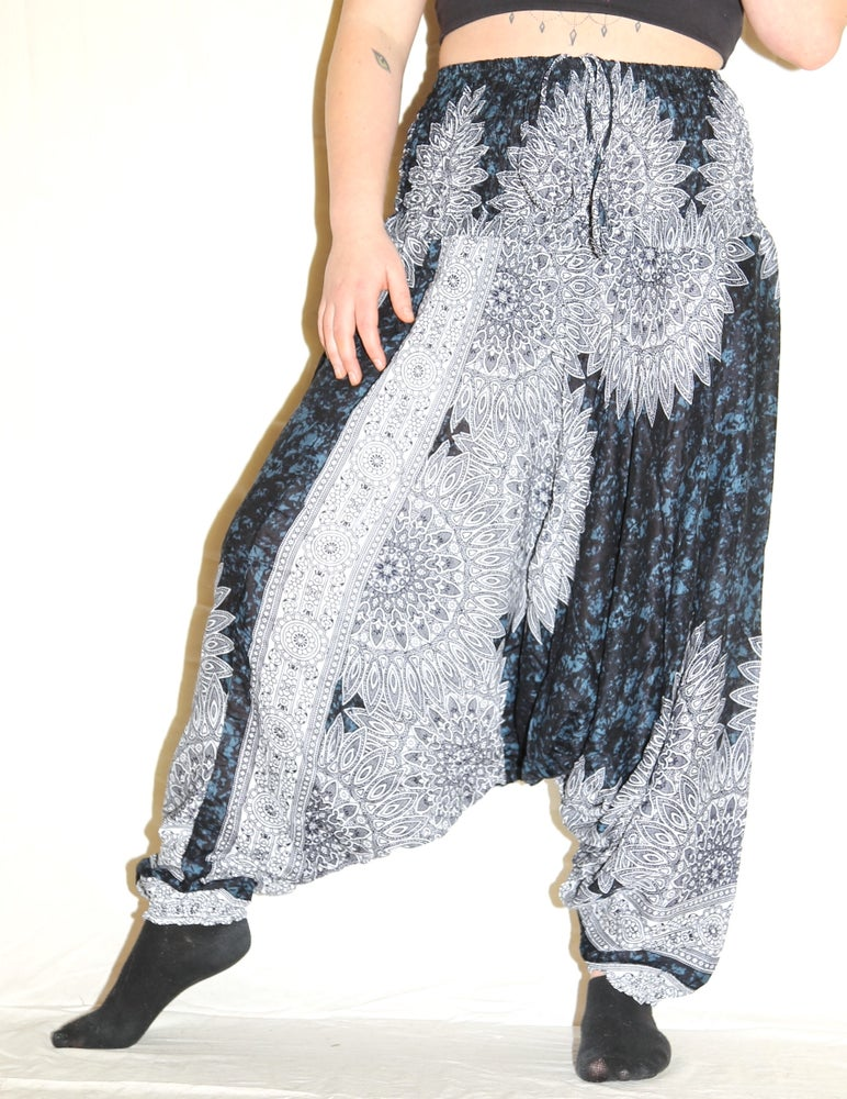 Image of Dark Blue Nirvana Deep Crotch Harem Pants