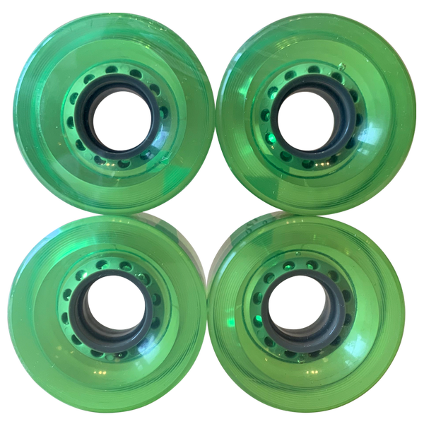 Image of Clear Green Cruiser Wheels - 60mm 83A