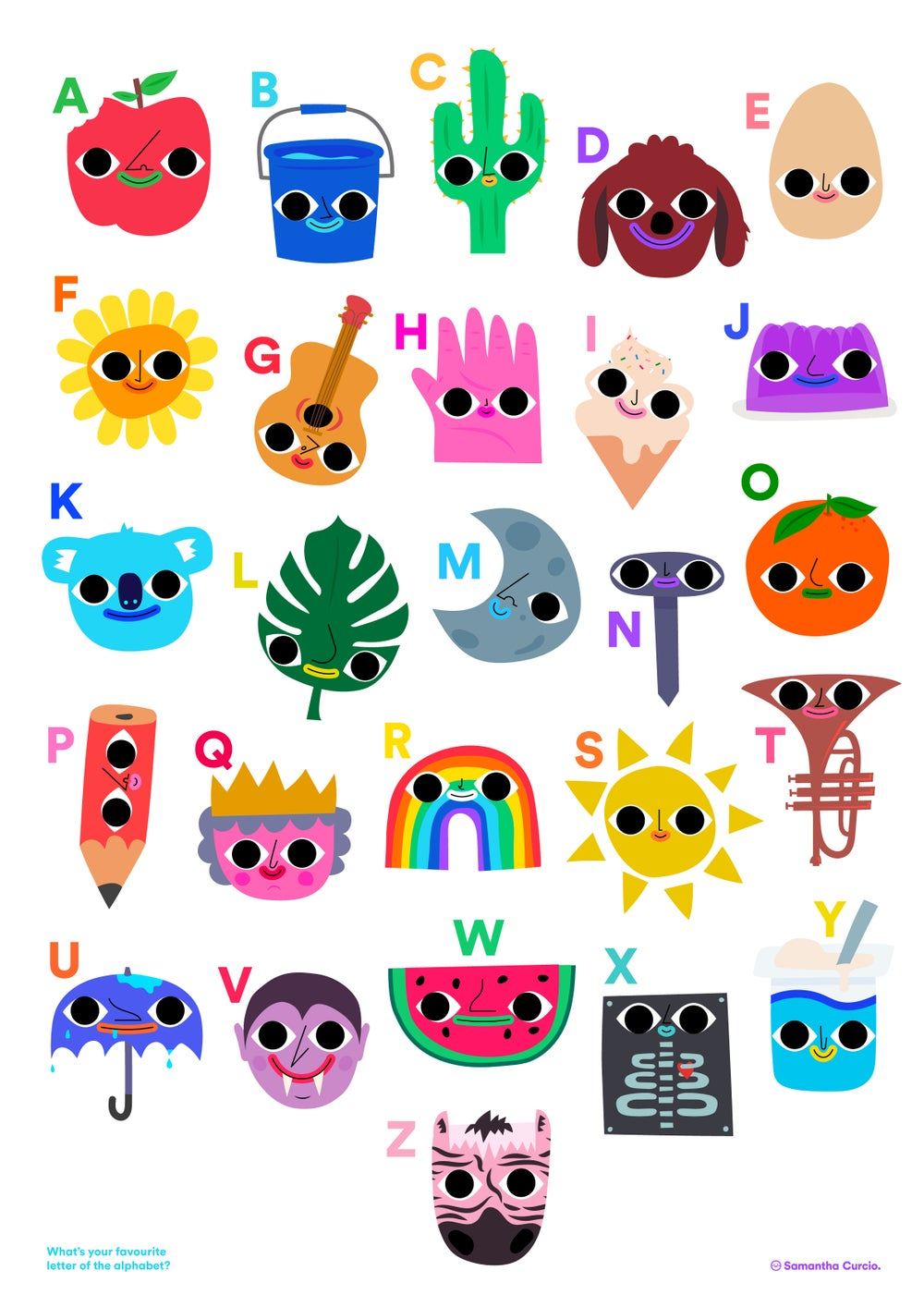 Image of A2 alphabet poster for kiddos