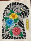 Chrysanthemum 1/2 Sleeve Painting (Left)