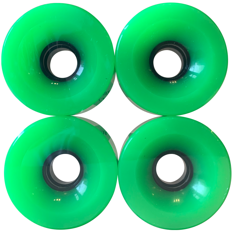 Image of Neon Green Cruiser Wheels - 70mm 83A