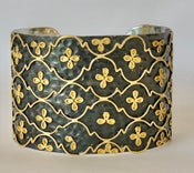 Image of Two tone tiny flower cuff