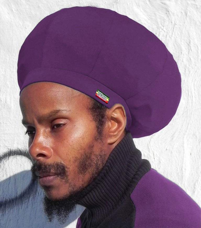 Image of Jah Roots Stretch Hats (Purple)