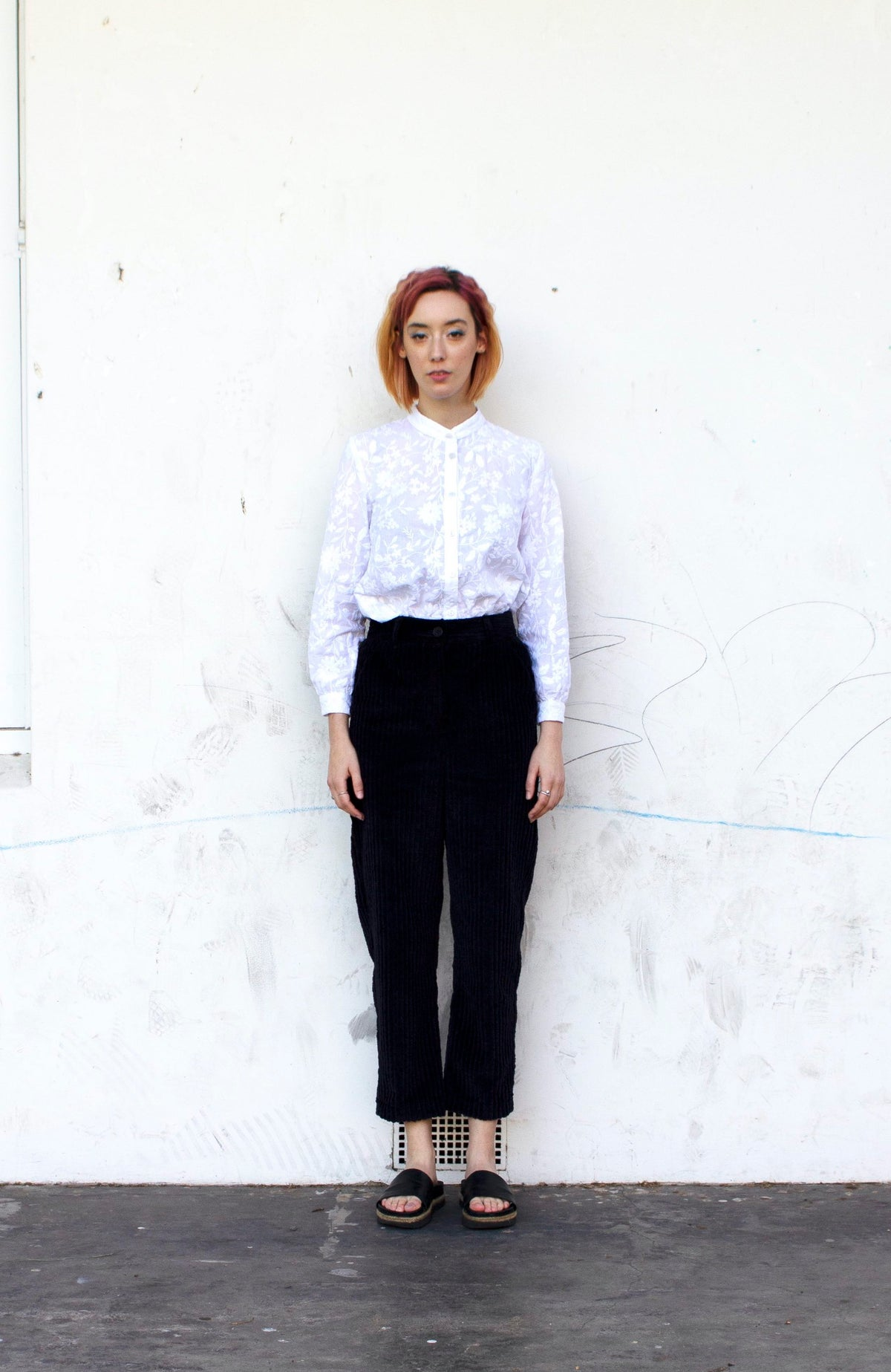 Image of Navy Cord Pant