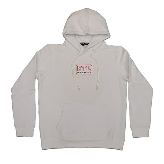 Image of Big Apple Chenille Hoodie (White)