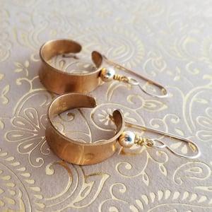 Image of Brass Channel Hoop Earrings