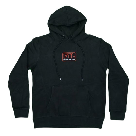 Image of Big Apple Chenille Hoodie (Black)