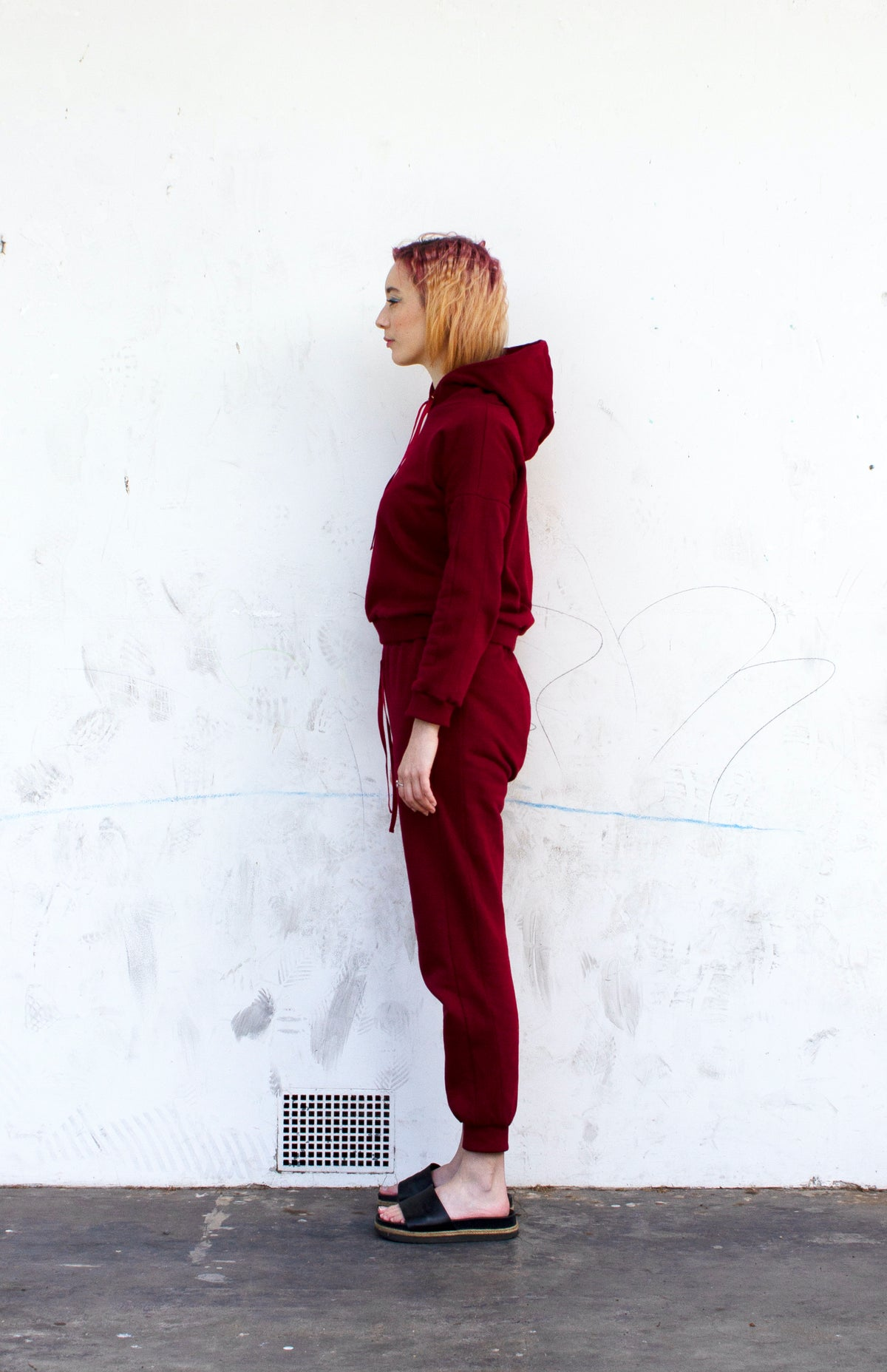 Image of Red Cotton Hoodie