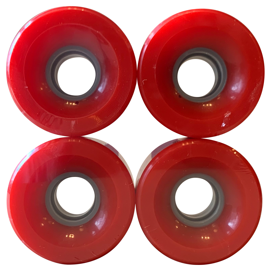 Image of Red Cruiser Wheels - 60mm 83A