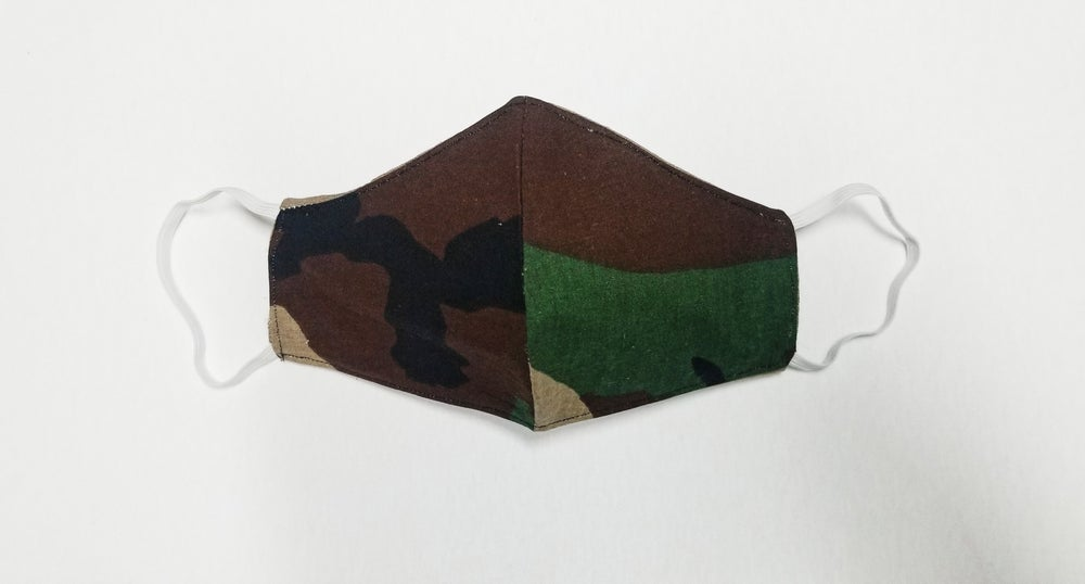 Image of CAMO FACE MASK (BROWN OPPOSITE)