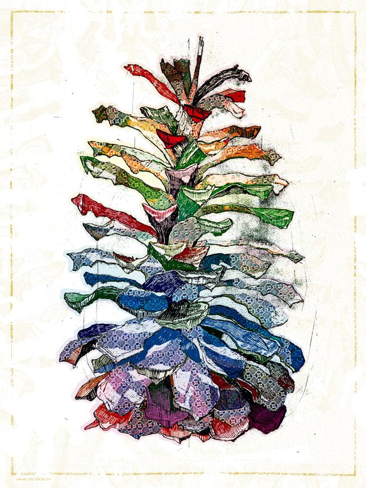 "Image of ""Pine Cone"" • Art Print (18"" x 24"")"