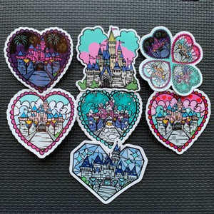 Image of Castle Love Sticker Set