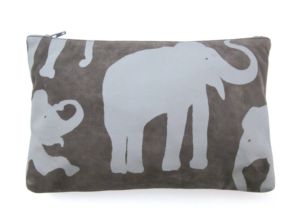 Image of Suede Grey Elephant Purses
