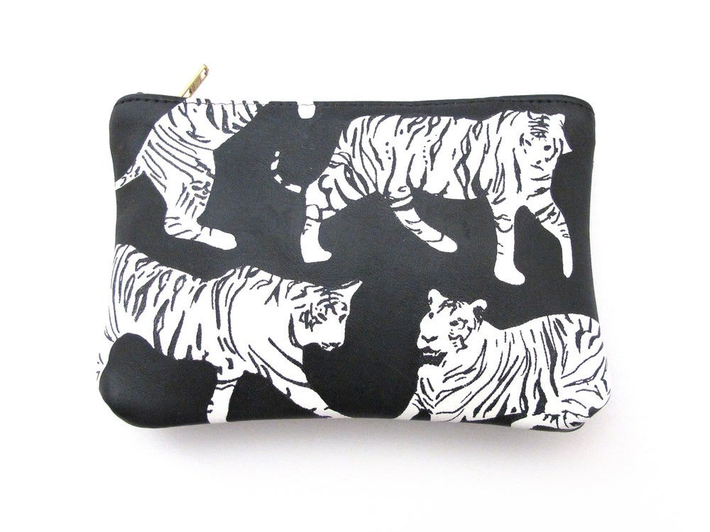 Image of Leather White Tigers Purses