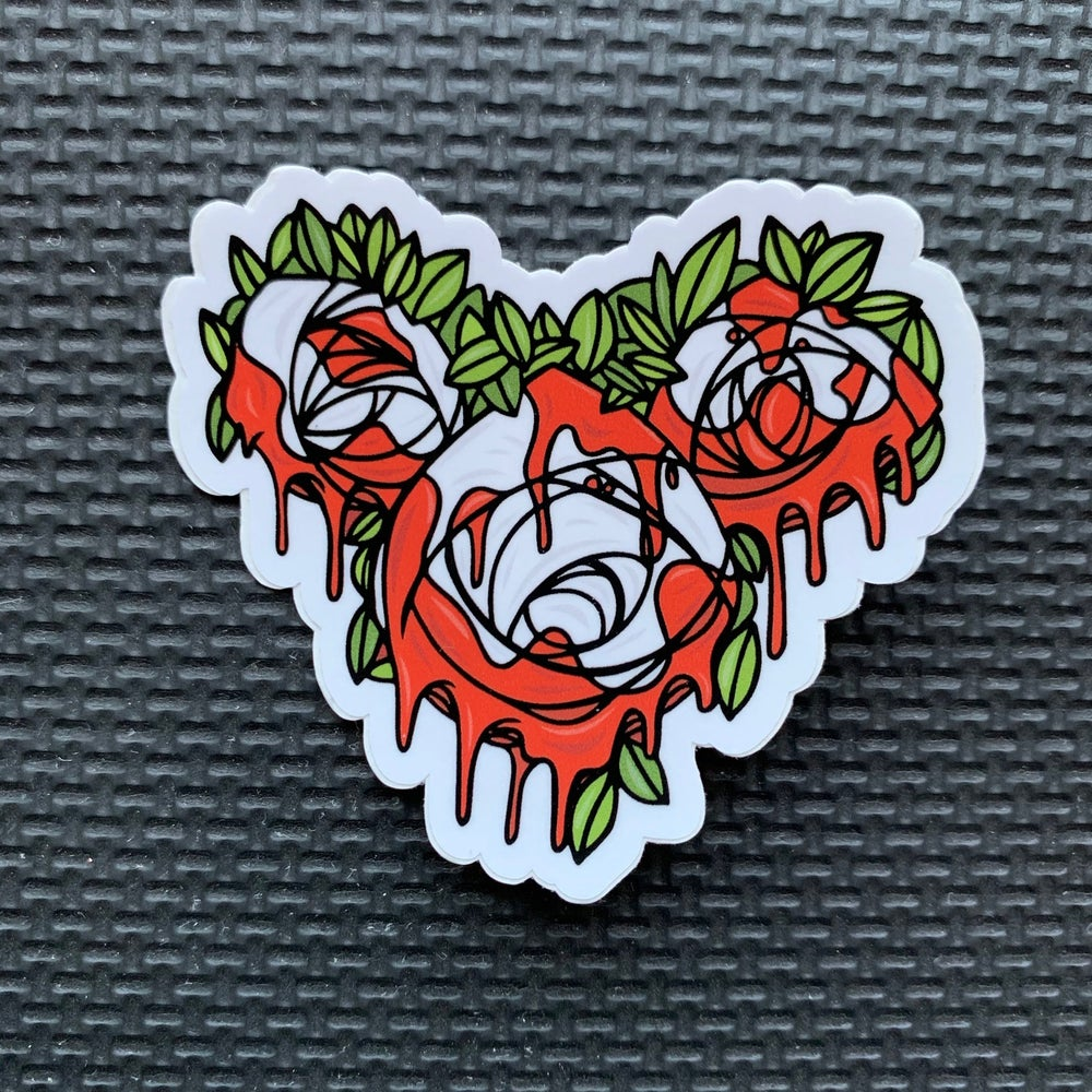 Image of Roses Red Sticker