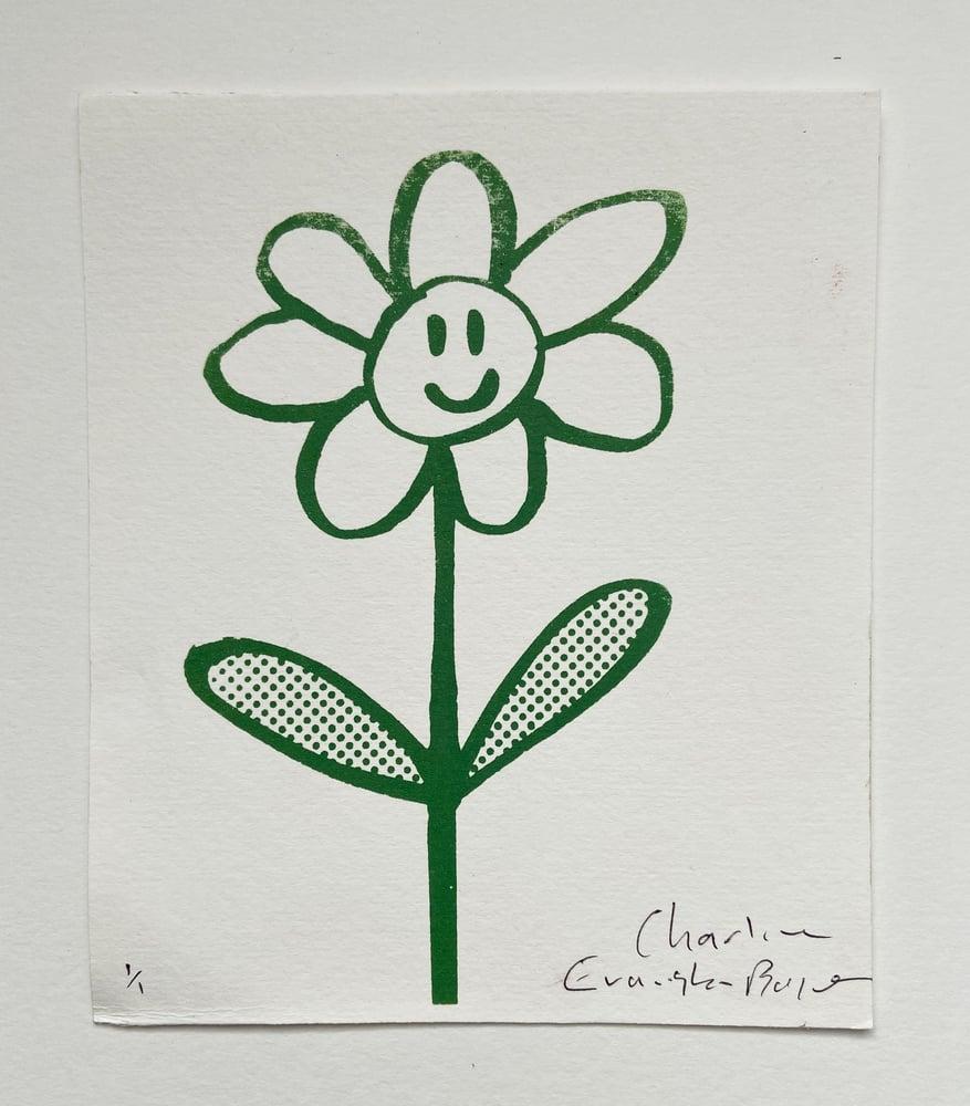 Image of Happy Flower Print by Charlie Evaristo-Boyce