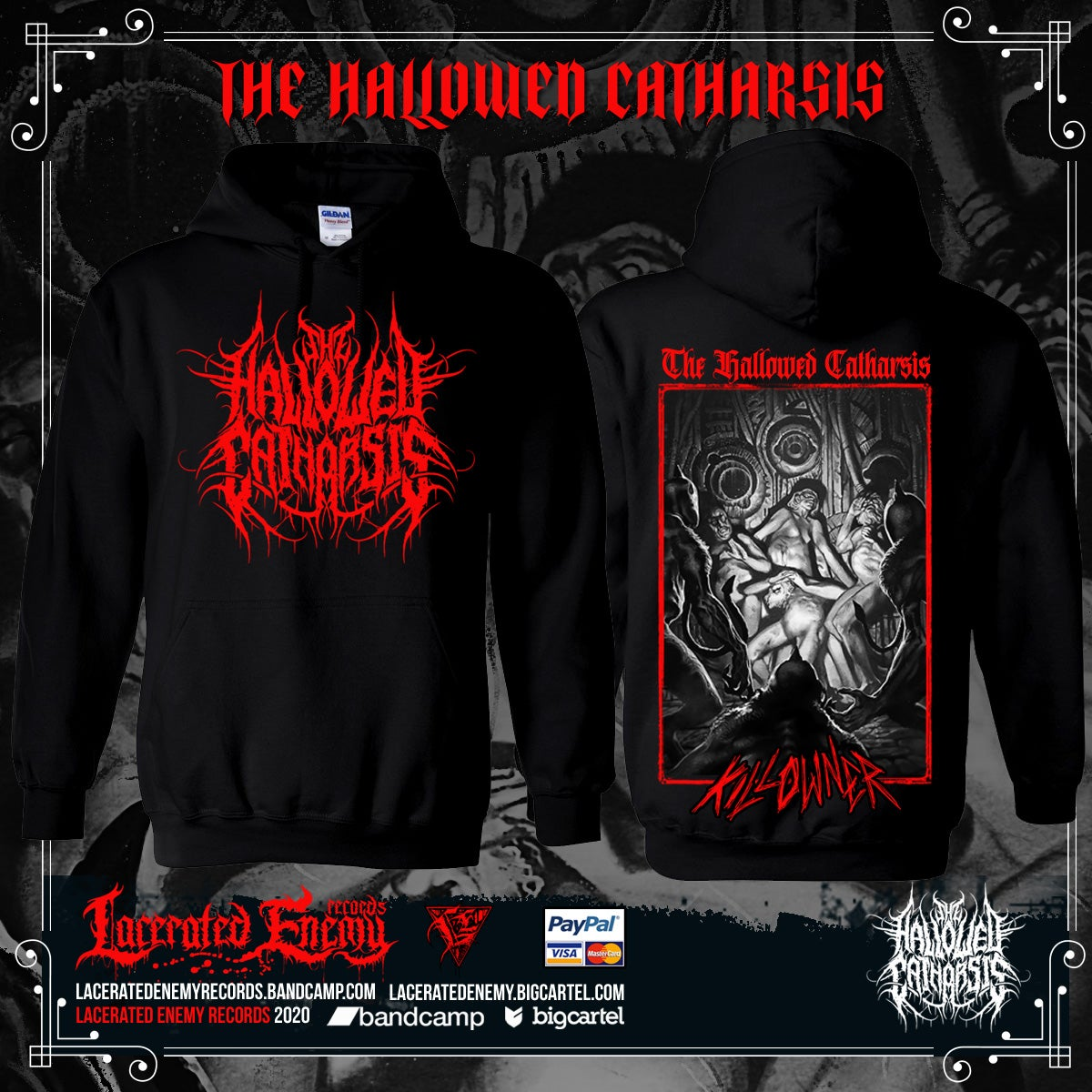 THE HALLOWED CATHARSIS - Killowner RED hoodie
