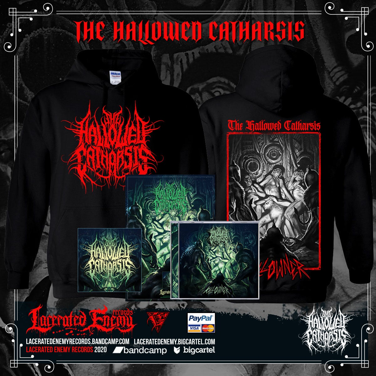 THE HALLOWED CATHARSIS - Killowner - RED hoodie Bundle